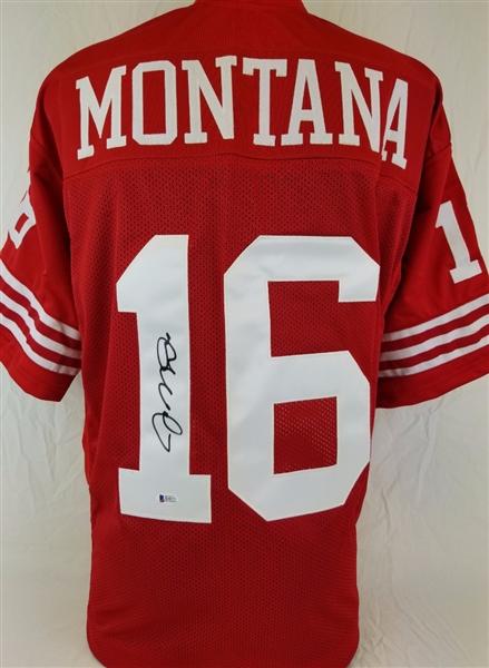 39997e66c Joe Montana Signed San Francisco 49ers Custom Jersey (Beckett Witness COA)