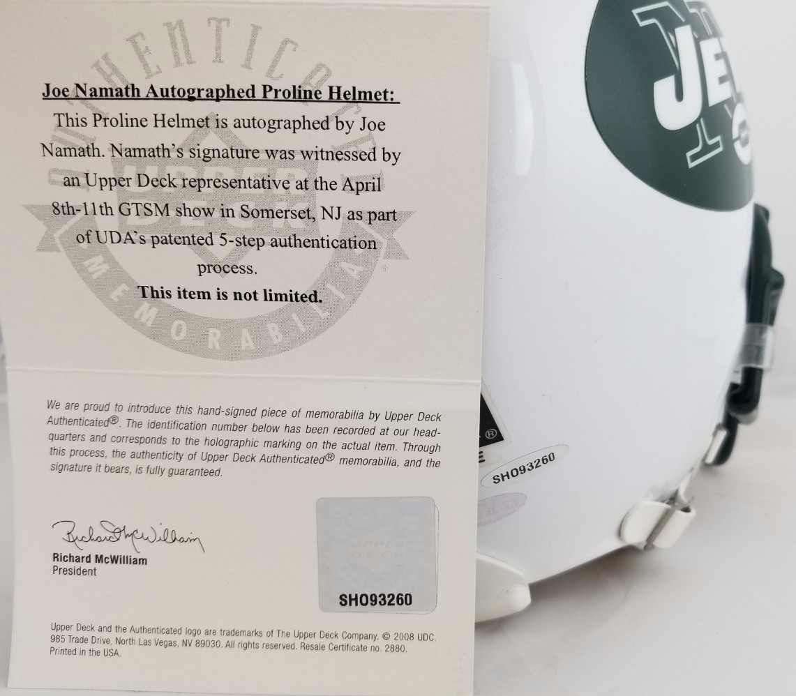 Lot Detail Joe Namath 12 Signed Authentic New York Jets Proline