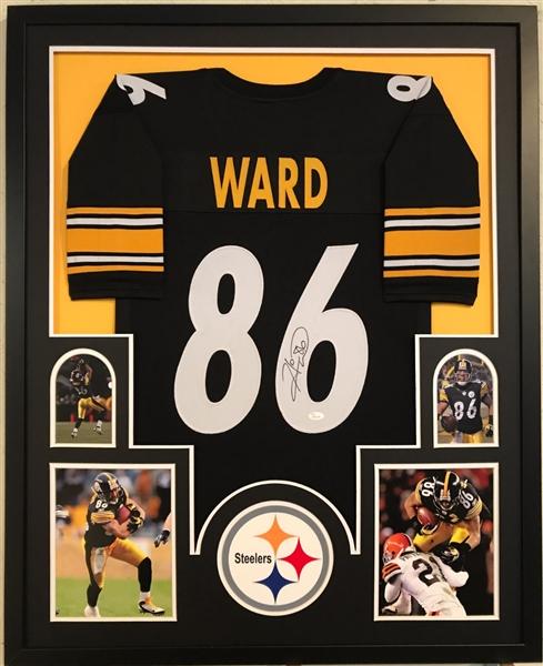 7f7a7f1c244 Hines Ward Signed Pittsburgh Steelers Custom Jersey Framed Display (JSA  Witness COA)