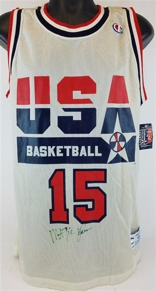 innovative design 43985 b068a Lot Detail - Magic Johnson Signed Team USA Basketball ...