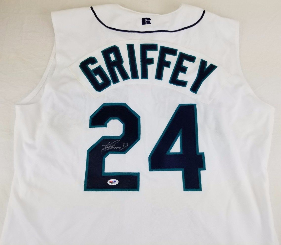 Ken Griffey Jr Signed Seattle Mariners Russell Atheltic Diamond Collection  Jersey (PSA DNA LOA. Hover to zoom. Prev Next 720d9b3e0