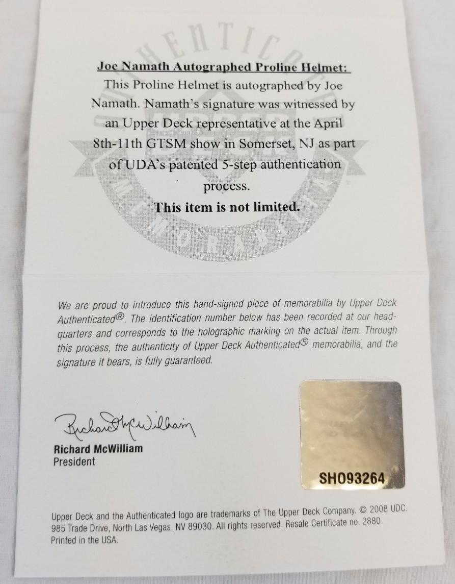 Lot Detail Joe Namath 12 Signed Authentic Full Size New York