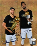 Stephen Curry & Kevin Durant Signed Golden State Warriors 8x10 Photo (JSA COA)