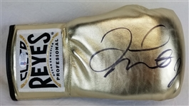 Floyd Mayweather Jr. Signed Gold Reyes Boxing Glove (Beckett Witness COA)