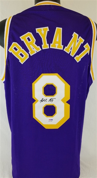 3605689c897 Kobe Bryant Signed Los Angeles Lakers Custom Jersey with Vintage Signature  (PSA DNA COA