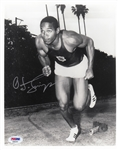 O.J. Simpson Signed USC Track and Field 8x10 Photo (PSA/DNA COA)