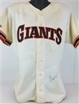 Willie Mays Signed Authentic Rawlings 1989 Old Timers Game Score Board Jersey (JSA LOA)