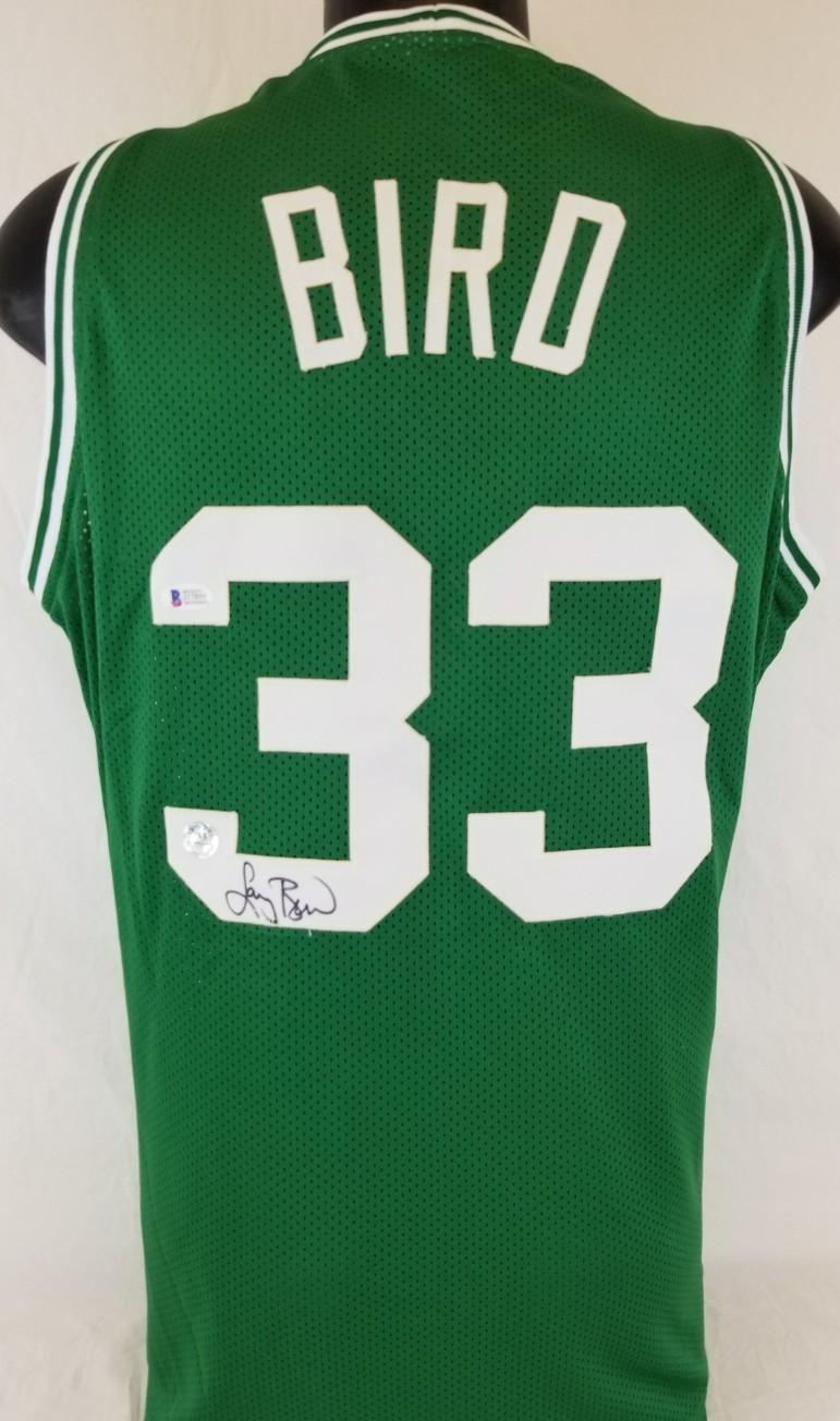 4826543149b ... usa larry bird signed boston celtics custom jersey beckett witness coa  bird hologram e636f a5cbb