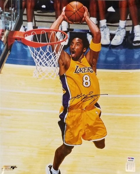 This photo was signed in 2001 and features Kobes rare full name vintage signature This autograph is certified by Professional Sports Authenticators