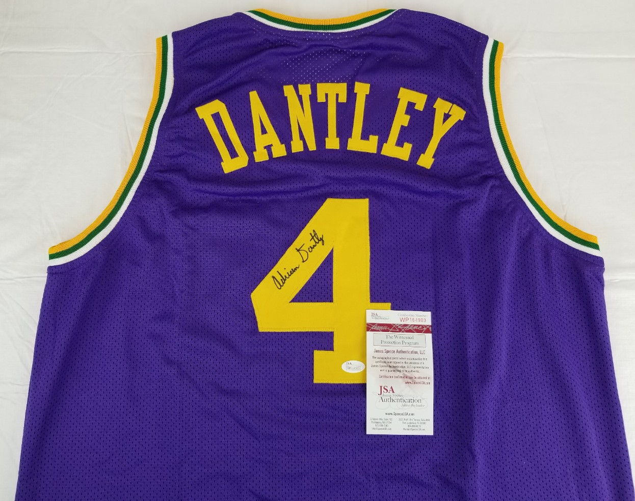 Adrian Dantley Signed Utah Jazz Custom Jersey (JSA Witness COA). Hover to  zoom. Prev Next ce6132e06