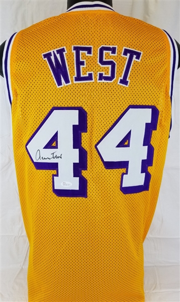 c52fbe775c49 Lot Detail - Jerry West Signed Los Angeles Lakers Custom Jersey (JSA ...