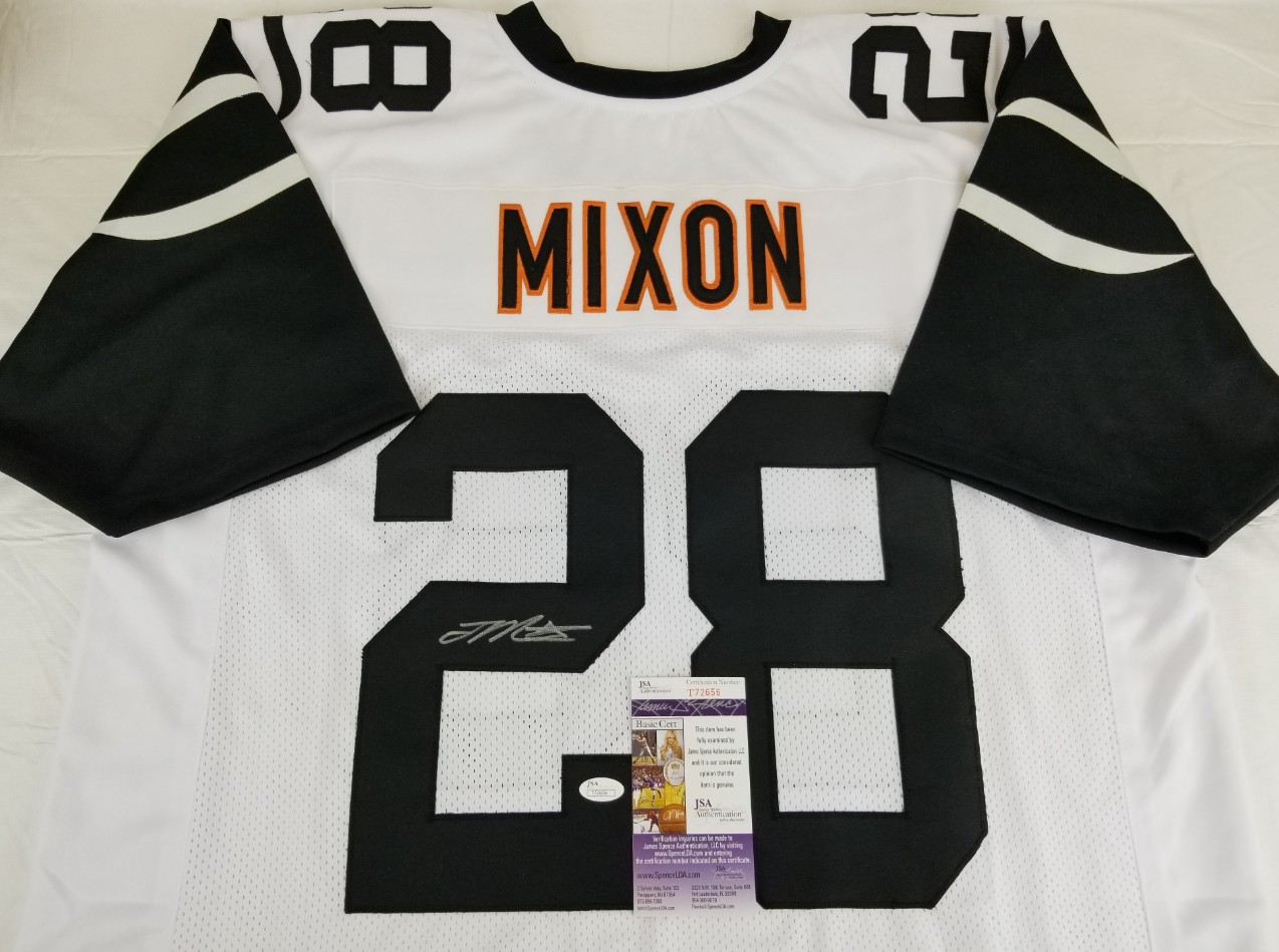808723149 Joe Mixon Signed Cincinnati Bengals Custom Color Rush Jersey (JSA COA).  Hover to zoom. Prev Next