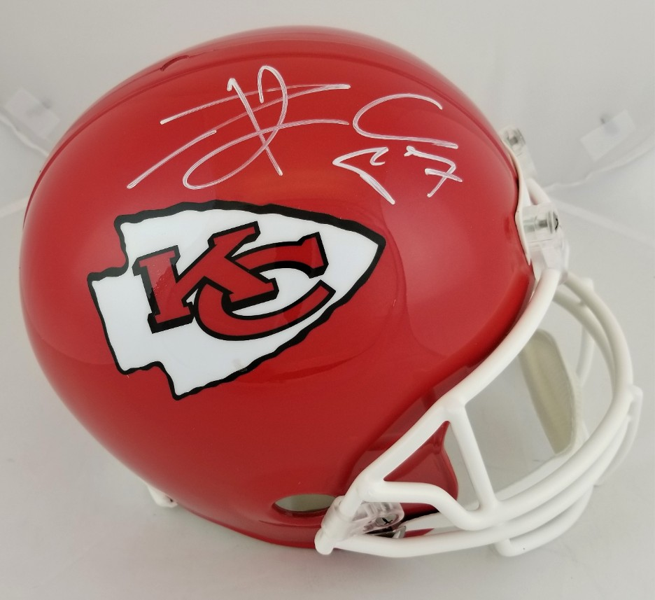 6c0b1cca1 Travis Kelce Signed Full Size Replica Kansas City Chiefs Helmet (JSA  Witness COA). Hover to zoom