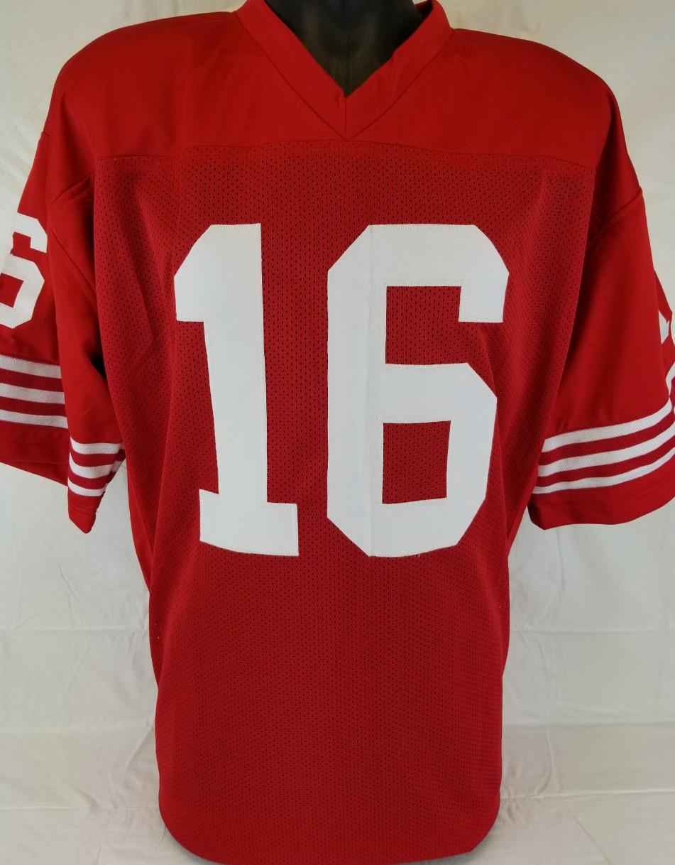 495130d05 Joe Montana Signed San Francisco 49ers Custom Jersey (Beckett Witness COA).  Prev Next