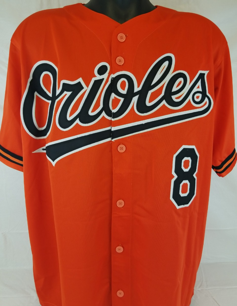 f3373443a Cal Ripken Jr. Signed Baltimore Orioles Custom Stat Jersey (JSA Witness COA).  Prev Next