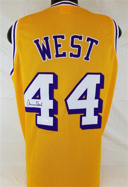 faf5235b6 Lot Detail - Jerry West Signed Los Angeles Lakers Custom Jersey (JSA ...