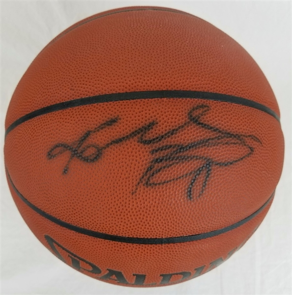 Kobe Bryant Full Name Signature Lakers Signed Spalding Basketball (PSA/DNA COA)