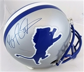 Barry Sanders Signed Full Size Replica Detroit Lions Helmet (JSA Witness COA)