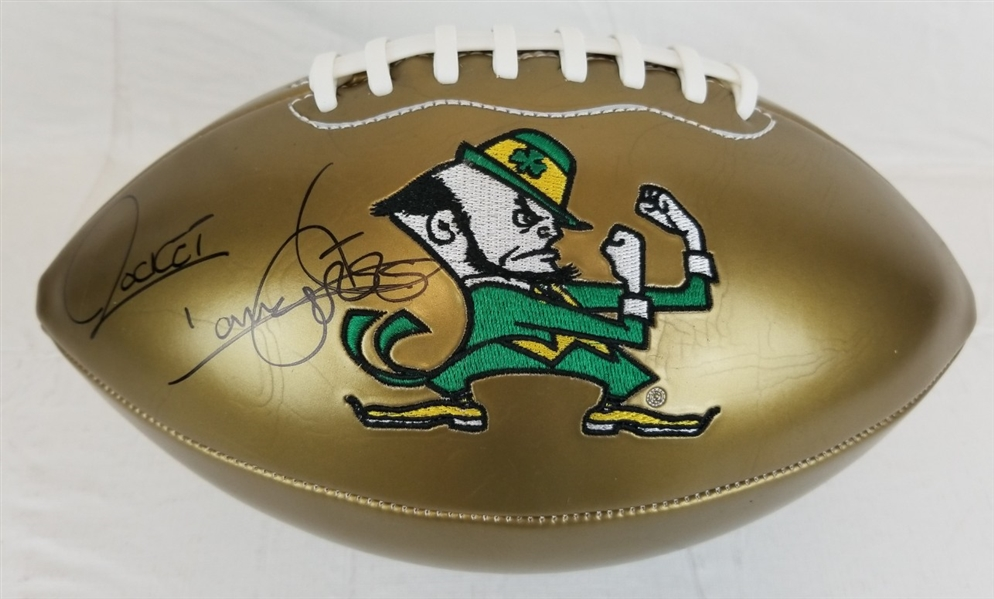 "Raghib ""Rocket"" Ismail Signed Notre Dame Logo Football (JSA Witness COA)"