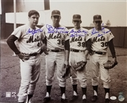 Nolan Ryan, Tom Seaver, Koosman & Gentry Signed & Inscribed 1969 Mets 16x20 Photo (JSA COA)