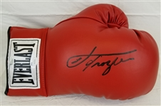 Joe Frazier Signed Red Leather Everlast Boxing Glove (JSA COA)