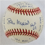 Stan Musial (d.2013) Signed ONL Baseball w/19 Career Stat Inscriptions (JSA LOA)