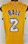 Lonzo Ball Signed Los Angeles Lakers Jersey (Beckett Witness COA)