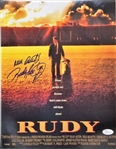 "Rudy Ruettiger ""Never Quit"" Signed Notre Dame 11x14 Rudy Photo (JSA COA)"
