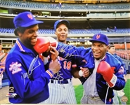 Mike Tyson, Doc Gooden & Darryl Strawberry Signed 1986 Mets 16x20 Photo (JSA COA)
