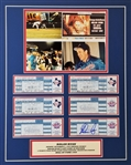 Nolan Ryan Signed Last Career Game Official Ticket 16x20 Matted Display (JSA COA)
