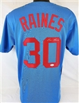 Tim Raines Signed Montreal Expos Custom Jersey (JSA Witness COA)