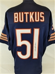 Dick Butkus Signed Chicago Bears Custom Jersey (JSA Witness COA)