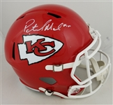 Patrick Mahomes Signed Full Size Replica Kansas City Chiefs Speed Helmet (Beckett Witness COA)