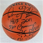 Dennis Rodman Signed Spalding Replica NBA Basketball w/5 Inscriptions (Beckett Witness COA)