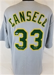 "Jose Canseco ""40/40"" Signed Oakland As Custom Jersey (Beckett Witness COA)"