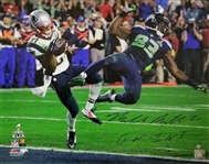 "Malcolm Butler ""GW INT"" Signed Patriots Super Bowl 49 16x20 Photo (Steiner COA)"