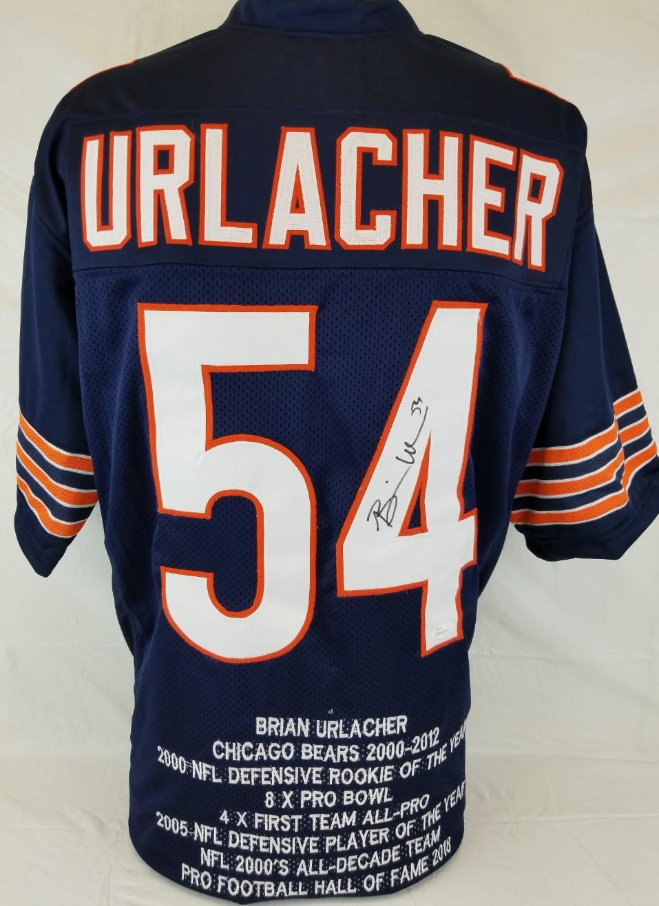 75d64c79c98 Brian Urlacher Signed Chicago Bears Custom Stat Jersey (JSA Witness COA).  Hover to zoom