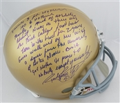 "Rudy Ruettiger Signed Full Size Replica Notre Dame Helmet w/ ""5 Ft Nothin"" Quote (JSA COA)"