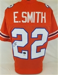 Emmitt Smith Signed Florida Gators Custom Jersey (Beckett Witness COA & Prova Hologram)