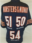Dick Butkus, Mike Singletary & Brian Urlacher Signed Bears Custom Jersey (JSA Witness COA)