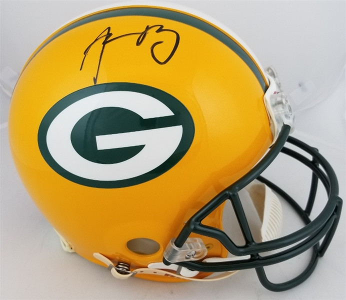Aaron Rodgers Signed Full Size Authentic Green Bay Packers Proline Helmet (JSA COA)