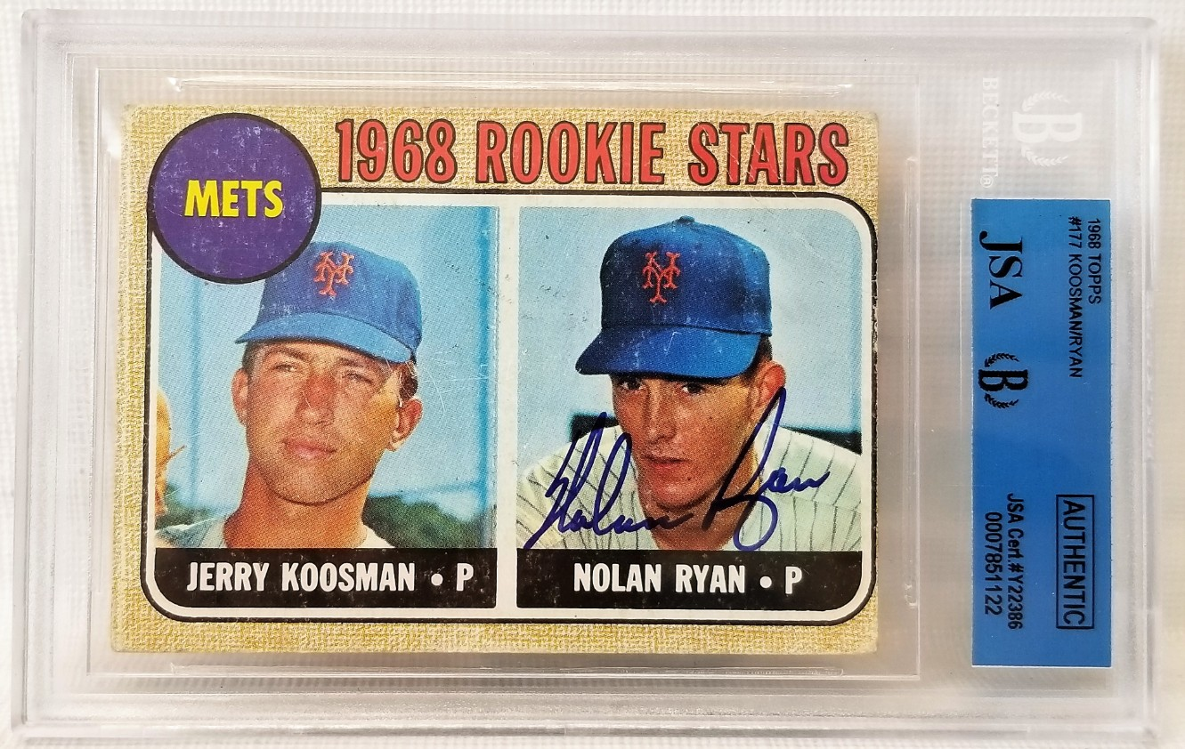 Lot Detail Nolan Ryan Signed 1968 Topps 177 Rookie Card