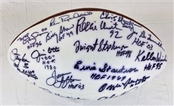 35 NFL Hall of Famers Signed Football w/ Reggie White, Taylor, Irvin & more! (JSA LOA)