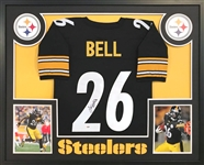 LeVeon Bell Signed Pittsburgh Steelers Custom Jersey Framed Display (PSA/DNA COA)