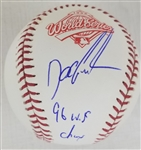 "Dwight Gooden ""96 WS Champs"" Signed Official 1996 World Series Baseball (JSA Witness COA)"