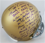 "Rudy Ruettiger Signed Full Size Replica Notre Dame Helmet w/ ""5 Ft Nothin"" Quote (JSA Witness COA)"