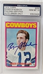 Roger Staubach Signed 1972 Topps RC Rookie #200 Card (PSA/DNA Graded 10 Auto!)