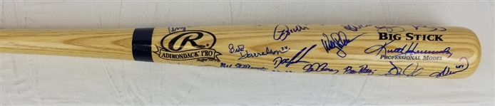 1986 New York Mets Team Signed Baseball Bat w/ 31 Signatures (JSA LOA)