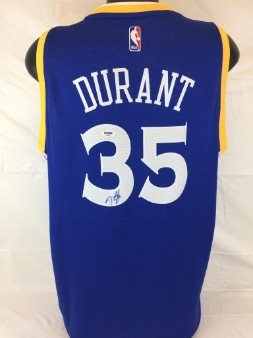 Kevin Durant Signed Adidas Swimgman Golden State Warriors Jersey (PSA/DNA COA)