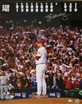 Roy Halladay (D.2017) Signed Phillies NLDS No Hitter 16x20 Photo (MLB Certified)